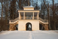 Rotunda в пуще зимы Стоковые Фотографии RF