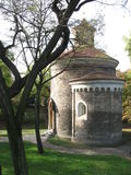 Rotunda. An old rotunda and trees in Prague Royalty Free Stock Photography