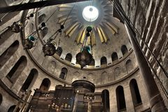 Church of the Holy Sepulchre - Rotunda & Edicule Royalty Free Stock Image