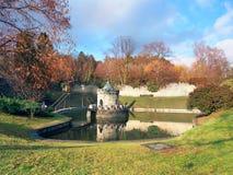 Rotunda And Lake At Bojnice Castle, Slovakia Royalty Free Stock Photography