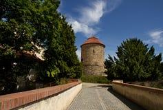 Rotunda av helgonet Catherine i den Znojmo Tjeckien Arkivfoton