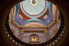 Rotunda British Columbia parlament Royaltyfri Fotografi