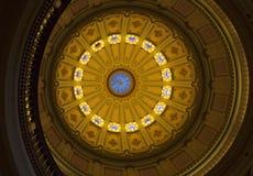 Rotunda, California Capitol. Interior view of the rotunda dome, California State Capitol, Sacramento Royalty Free Stock Photo