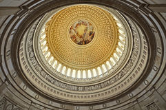 The Rotunda in Capitol Washington D.C. A view of the richly decorated  ceiling of the rotunda in the Nation's capital Royalty Free Stock Images