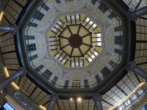 Rotunda/ ceiling at Tokyo railway station. With a beautiful design royalty free stock image