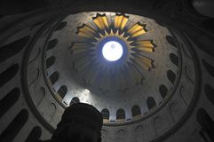 Rotunda of the church Holy Seplche Royalty Free Stock Photography