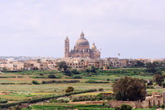 Rotunda Church of Xewkija at Gozo Island Royalty Free Stock Images