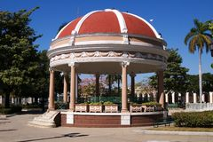 Rotunda  in Cienfuegos city centre, Cuba. Rotunda  in Cienfuegos city centre (Marti's garden), Cuba Royalty Free Stock Photography