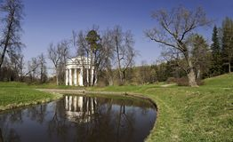 Rotunda with columns in spring Stock Images
