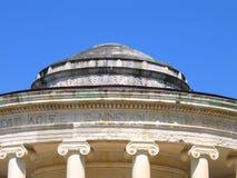 Rotunda con i capitali ionici delle colonne Fotografia Stock