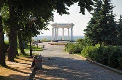 Rotunda de l'amitié des peuples à Poltava Photos libres de droits