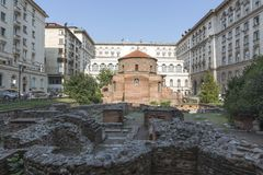 Rotunda di St George Monumento architettonico dei periodi romani fotografia stock libera da diritti