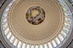 Rotunda Dome inside Capitol Building - Washington DC, USA Stock Image