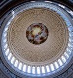 Rotunda Dome inside Capitol Building - Washington DC, USA Royalty Free Stock Image