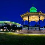 Elder Park rotunda and Adelaide Oval Stock Image