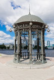 Rotunda on the embankment of city pond.Yekaterinburg. Russia Stock Photography
