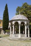 Rotunda et cyprès, monastère Iviron, Athos photo libre de droits
