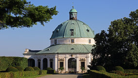 Rotunda in Flower garden , Kromeriz , Czech republic Royalty Free Stock Photos