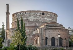 Rotunda of Galerius. Thessaloniki, Macedonia, Greece stock images