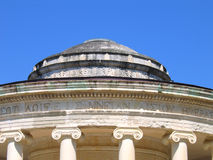 Rotunda with Ionic capitals of columns. Fragment of the rotunda with Ionic capitals of columns. The island of Corfu Stock Photo