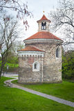 Rotunda le plus ancien de St Martin dans Vysehrad, Prague Image stock
