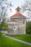 A rotunda a mais velha de St Martin em Vysehrad, Praga Imagem de Stock