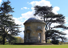 The Rotunda. The majestic rotunda at Croome Court. Previously the family home of the Earl of Coventry, the parkland was recovered from bogs and marshland by stock image