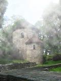 Rotunda in mist Royalty Free Stock Image