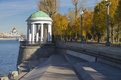 Rotunda on the Moscow River embankment. Stock Images