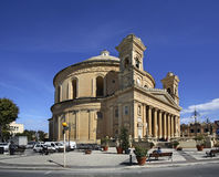 Rotunda of Mosta - church of Assumption of Our Lady. Mosta. Malta.  Stock Images