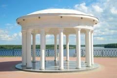 The rotunda at the new Volga embankment. Myshkin, Russia. The Gazebo-rotunda at the new Volga embankment. Myshkin, Russia Stock Photography