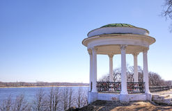 Rotunda on quay of Volga river. Royalty Free Stock Image
