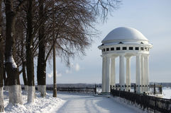 Rotunda on river Volga Royalty Free Stock Photography