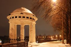 Rotunda on river Volga Stock Photography