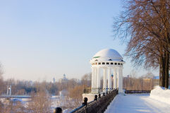 Rotunda on river Volga quay in Yaroslavl Royalty Free Stock Photo