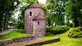 Rotunda roman sur la colline de château dans Cieszyn, Pologne photographie stock libre de droits