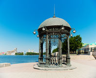 Rotunda on the shore of the pond in Ekaterinburg,. Rotunda on the shore of the pond in the center of Ekaterinburg, Russia Stock Photography
