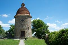 Rotunda in the Skalica, Slovakia. Medieval rotunda Saint George in the city Skalica,western Slovakia, Europa stock image