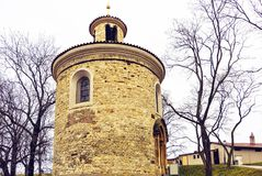 Rotunda of St Martin`s Chapel in a cloudy day royalty free stock photography