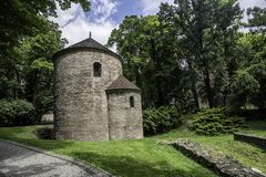 Rotunda of St. Nicolas and St Waclaw in Cieszyn in Poland. In Silesia royalty free stock photo