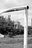 Rotunda of the thrown stadium in style the Stalin empire style Royalty Free Stock Image