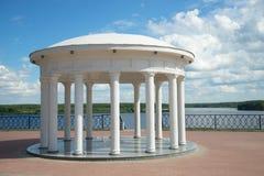 The rotunda on the Volga embankment. Myshkin, Russia. The rotunda on the Volga embankment a sunny day in july. Myshkin, Russia Royalty Free Stock Photography