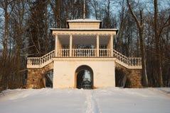 Rotunda w zima lesie Zdjęcia Royalty Free