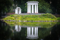 Rotunda water reflections Stock Photo
