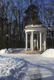 Rotunda in the Winter Park Stock Photo