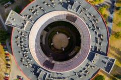 Rotundabyggnad för bästa sikt, sjukhus i Kalisz, Polen royaltyfri foto