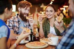 Rotura de la pizza Imágenes de archivo libres de regalías