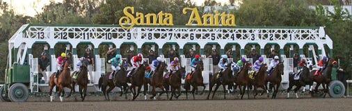 Rotura de la puerta para la desventaja 2012 de Santa Anita Fotos de archivo libres de regalías