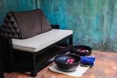 Rotura de té para los tratamientos y la relajación del balneario Fotografía de archivo