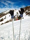 Rotura del esquí imagen de archivo libre de regalías